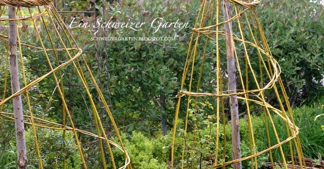 Klettergerüst Für Rosen Selber Bauen : Ein schweizer garten weidengerüste für den gemüsegarten
