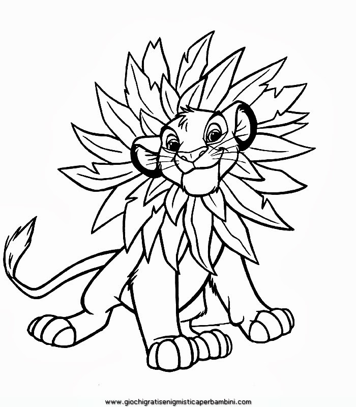 Disegni da colorare re leone - Simba coloriage ...