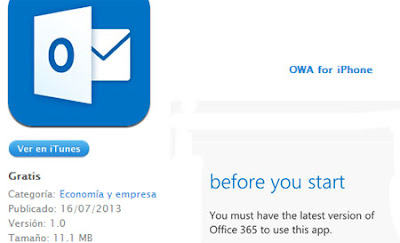 outlook correo iphone