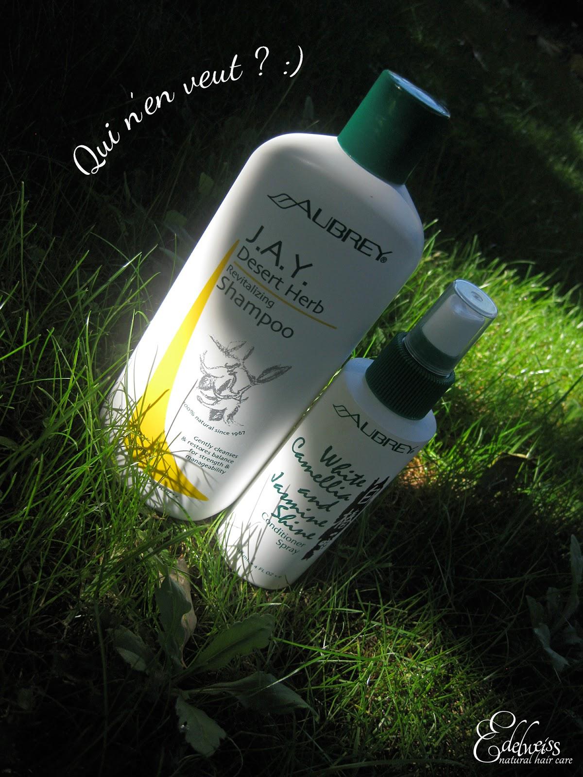 aubrey produits cheveux shampooing cheveux secs