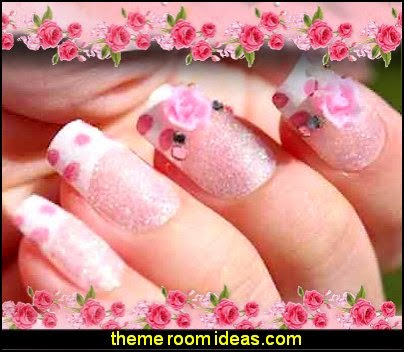Decorating theme bedrooms maries manor nail art flower themed press stick on 3d nails tips nail art designs prinsesfo Images