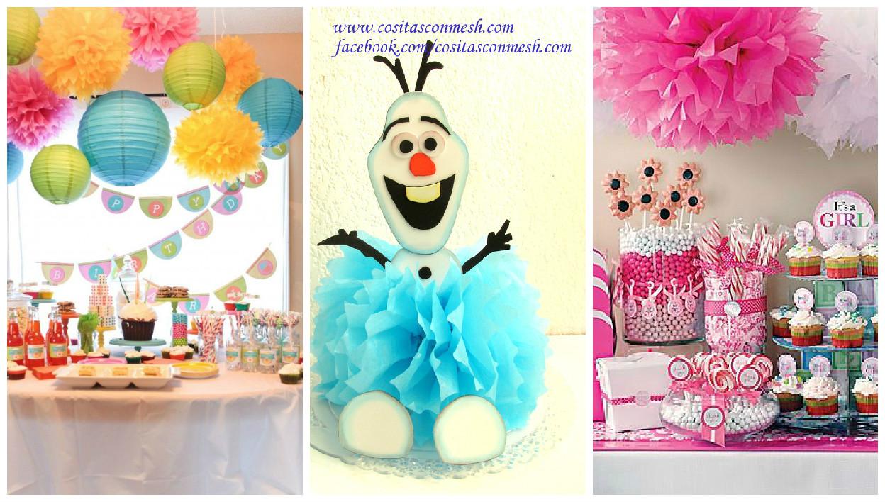 C mo hacer pompones de papel para decoraci n cositasconmesh for Decoracion navidena con papel