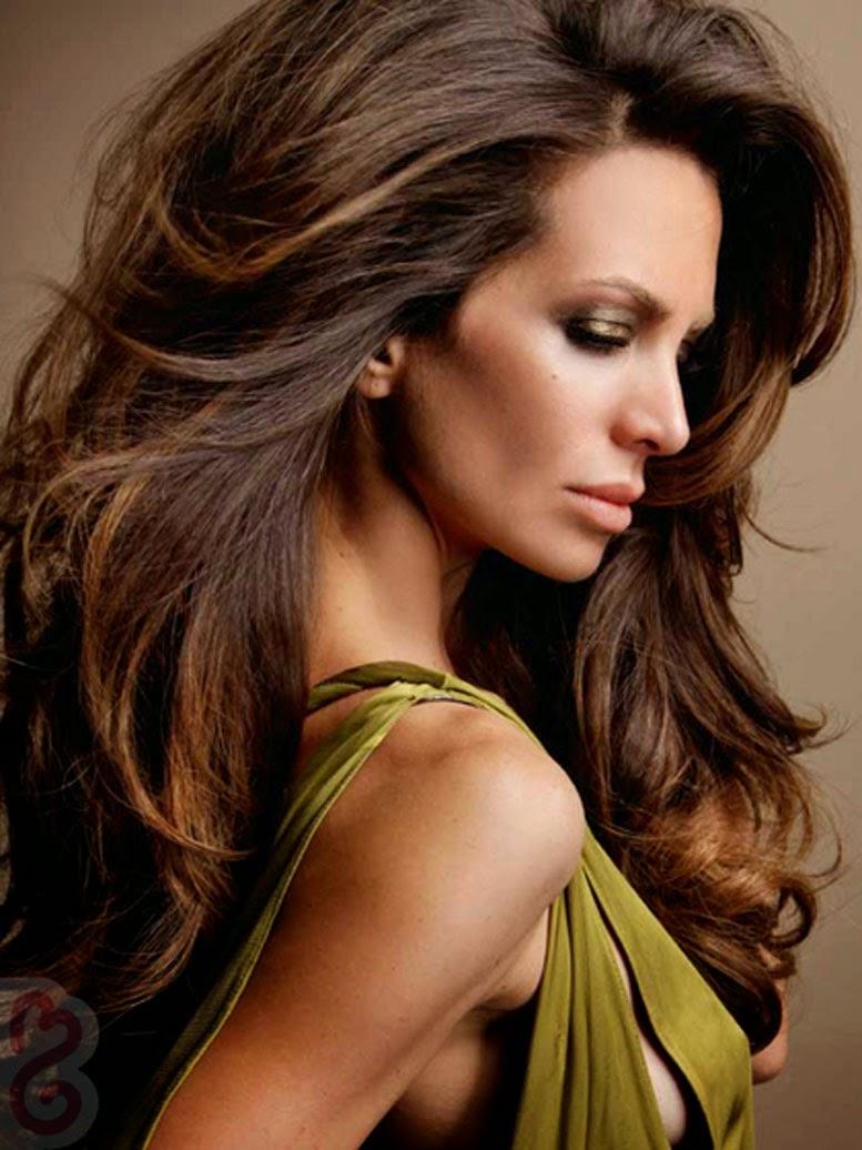 : Dark Brown Hair With Chunky Blonde Highlights , Dark Brown Hair ...