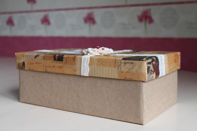 Коробка из под обуви декор