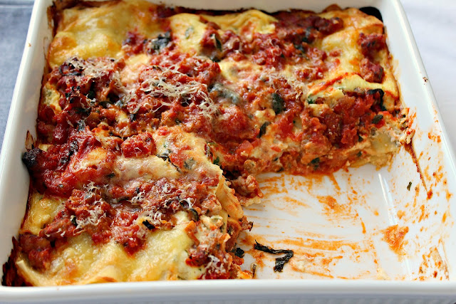 Milk and Honey: Turkey Sausage Lasagna
