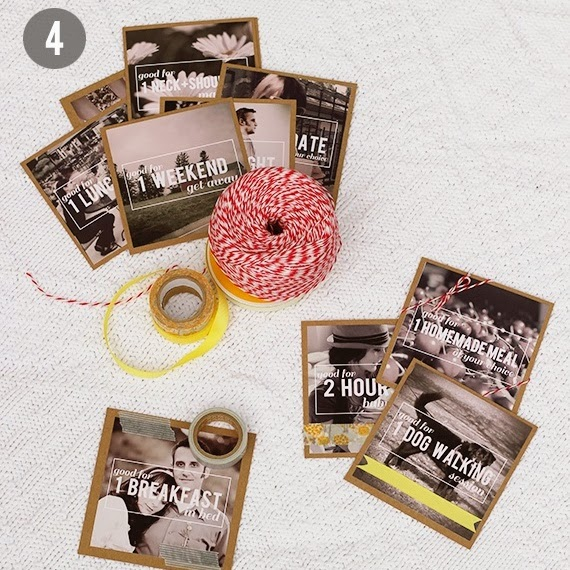 DIY photo gift coupons - Christmas gift