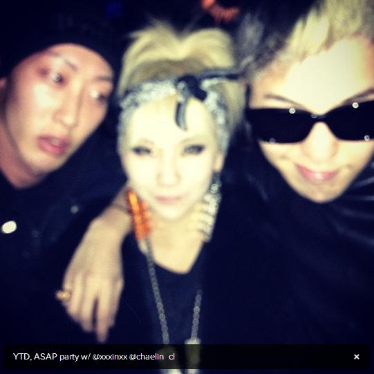 G-Dragon, CL & Yanggaeng at A$AP Rocky launch party London
