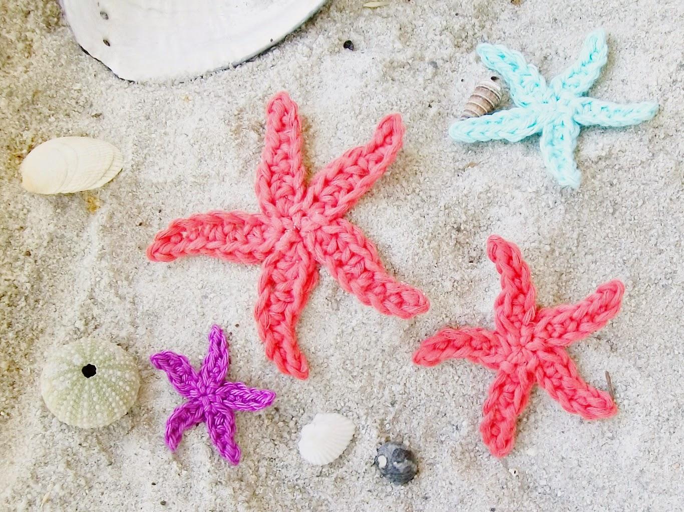 Free Crochet Pattern Starfish : Flower Girl Cottage : Free Starfish Crochet Pattern