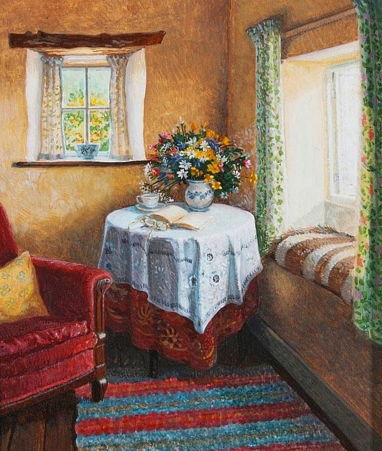 Pinturas cuadros lienzos cuadros al leo pinturas de for Pinturas de casas interiores