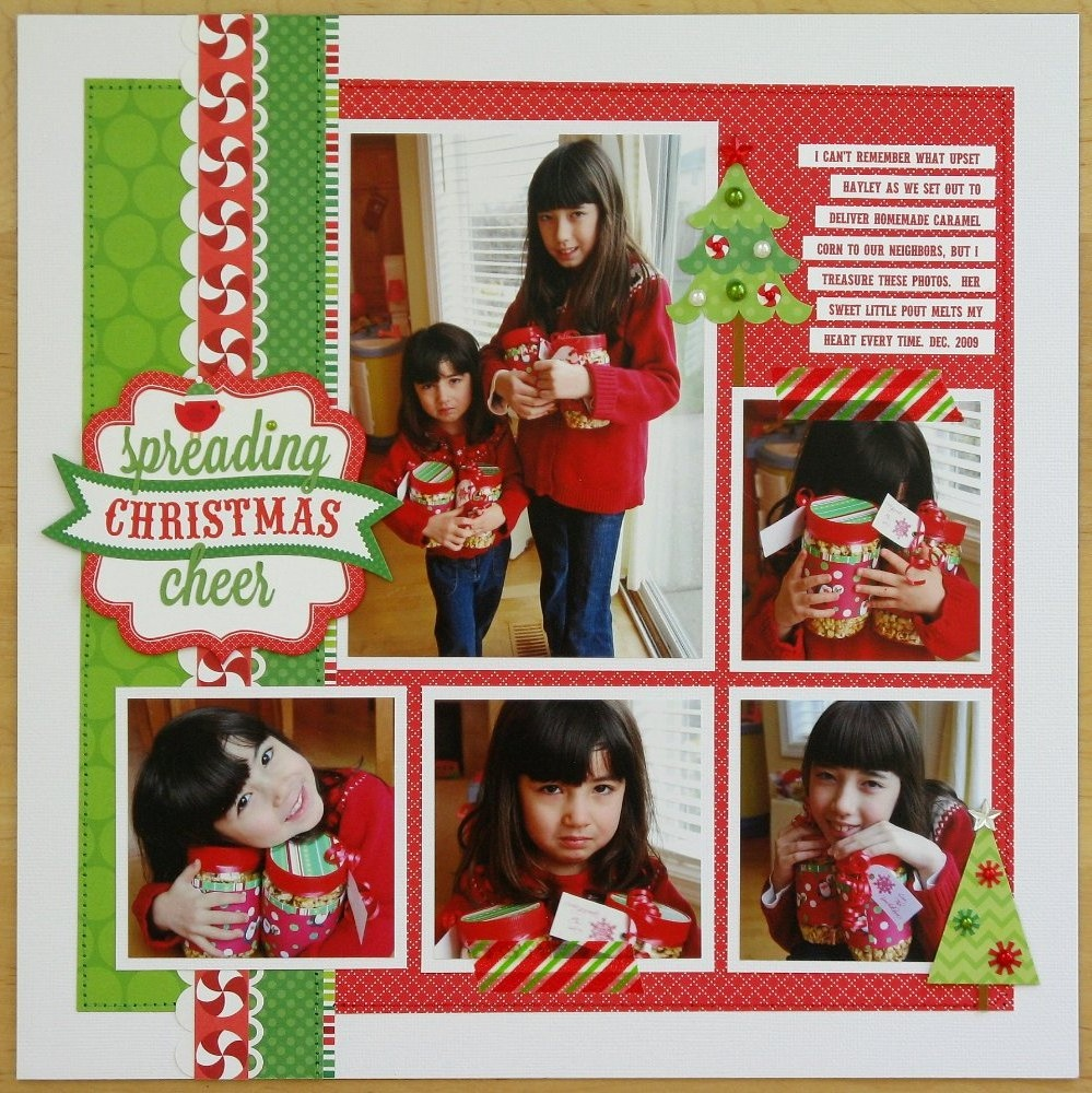 Snippets by mendi day 1 a doodlebug north pole christmas for Christmas layout ideas