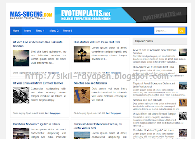 Mas Sugeng 2015 Blogger Template