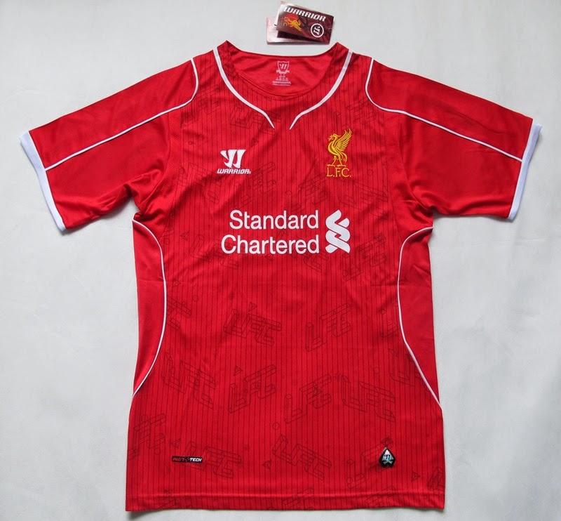 New Liverpool Kit 14-15 Warrior LFC Home Jersey 2014-2015