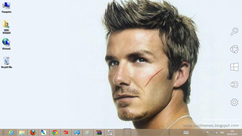 David Beckham Theme For Windows 7 And 8