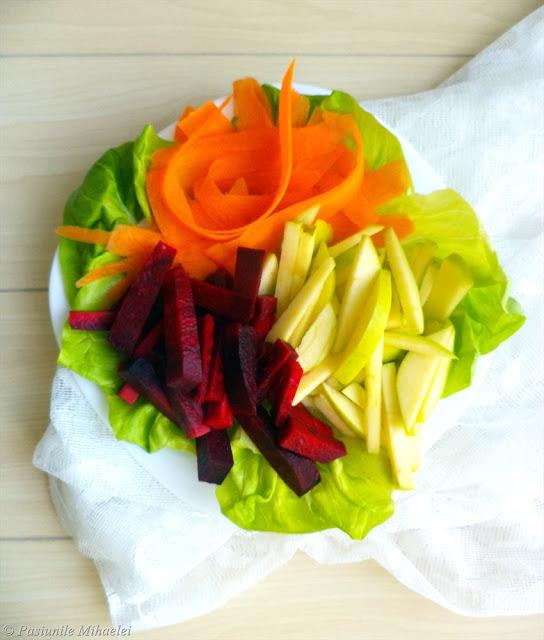 Salata verde, mar, morcov, sfecla