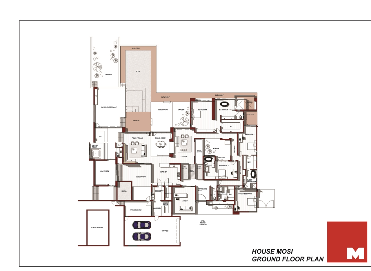 World of architecture house mosi when modern homes are Floor plan of a modern house