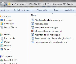Powerpoint show menjadi PPT