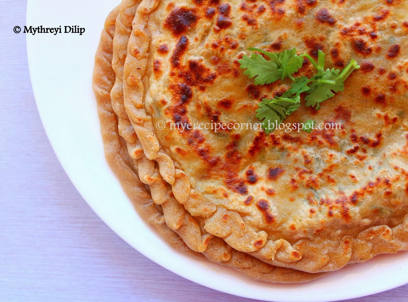 Mye's Kitchen: Gobi Paratha / Cauliflower Paratha