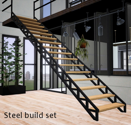 My Sims 3 Blog Steel Build Set By Pocci