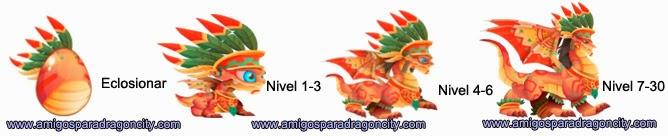imagen del crecimiento del dragon guerrero azteca