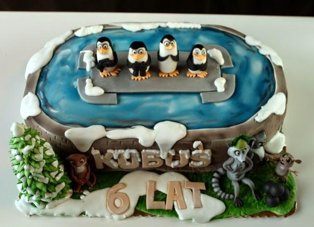 Tort Pingwiny z Madagascaru