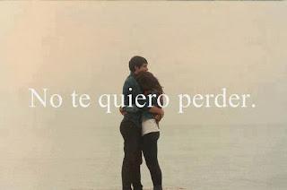 no te quiero perder porque yo sin ti no se lo que es vivir