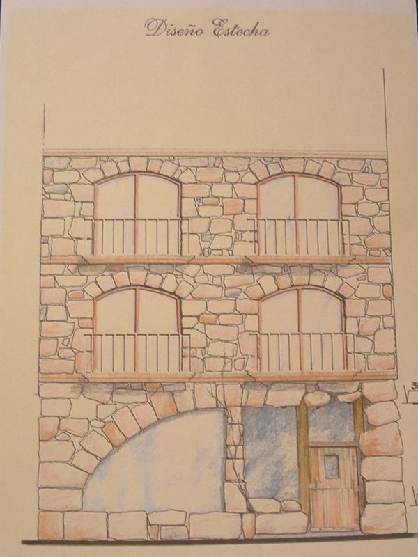 Tematizaci n con piedra artificial en fachadasher ldica y - Piedra artificial para fachadas ...