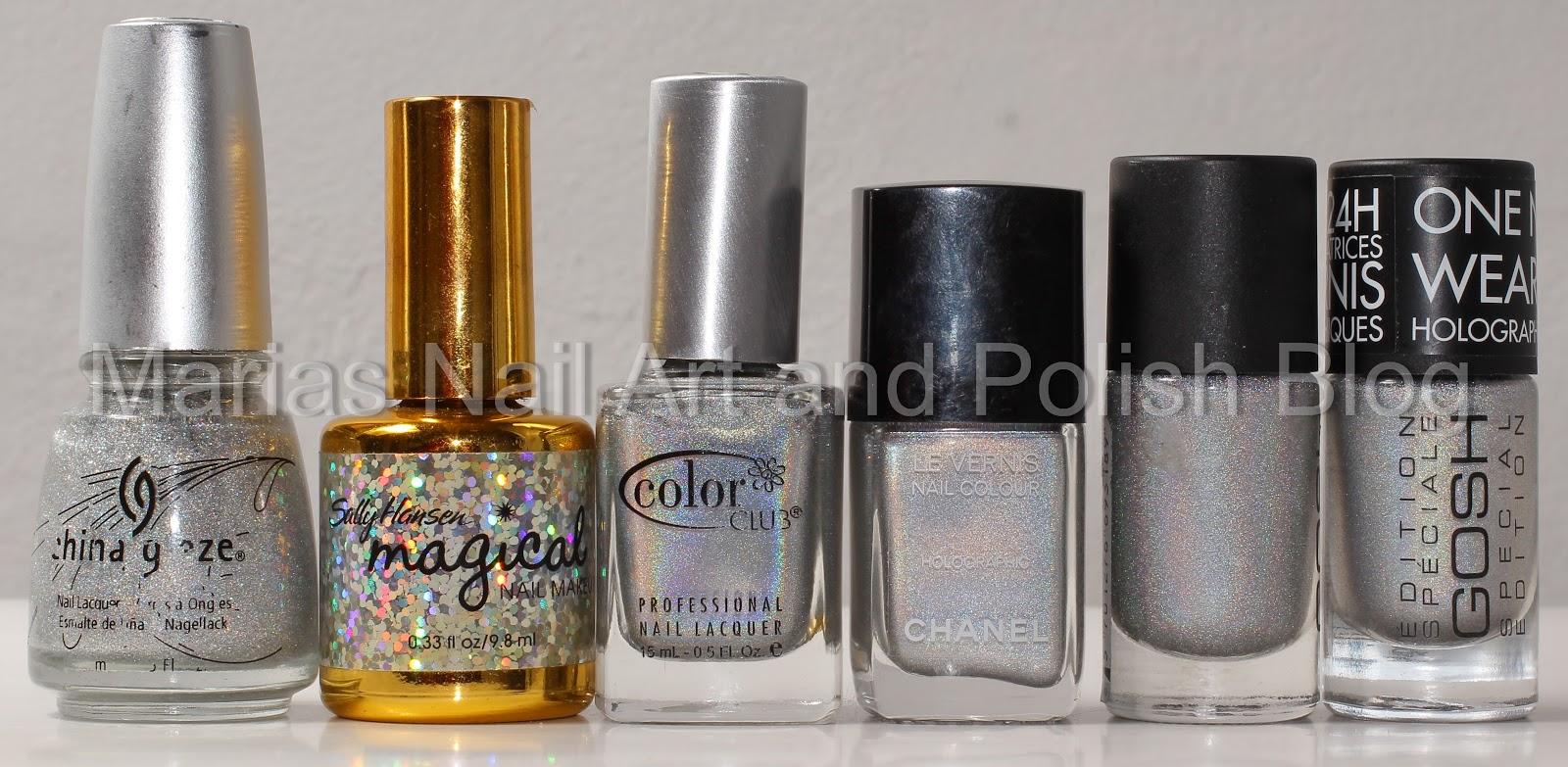 Marias Nail Art and Polish Blog: Silver holographic polish ...
