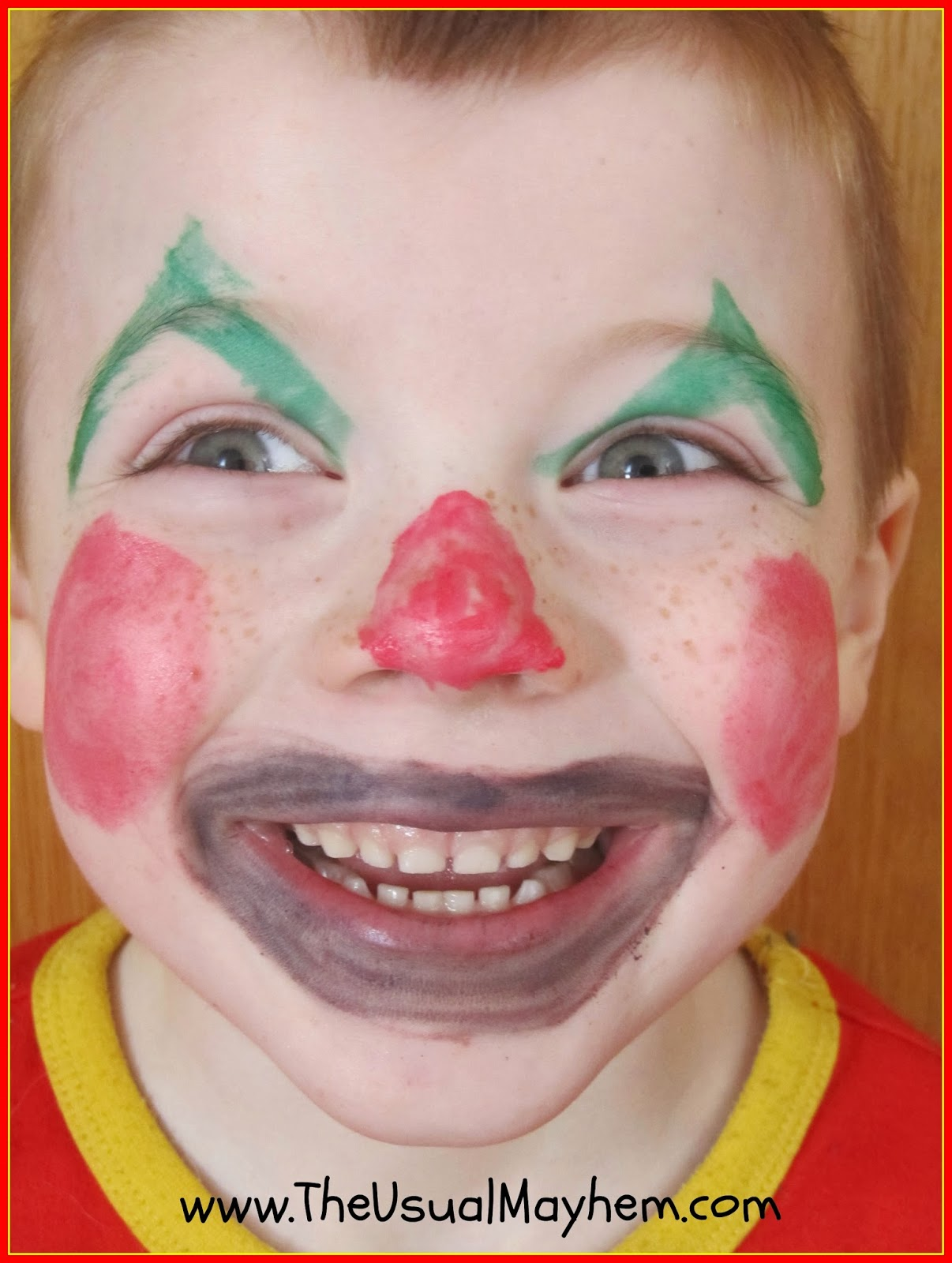 clown makeup activity for kids