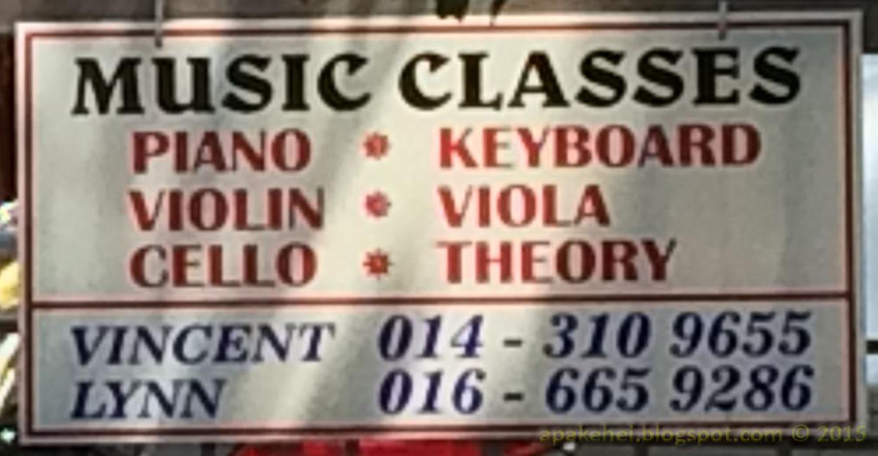 Kelas muzik di Saujana Utama Sungai Buluh