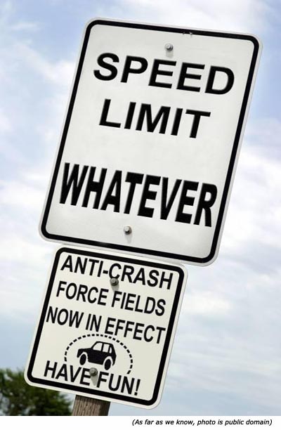 Funny Speed Limit Signs The new speed limit laws