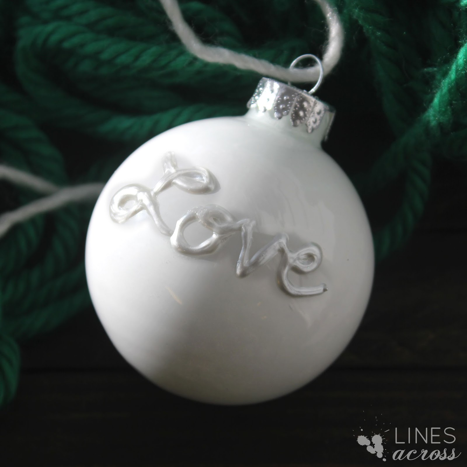 Outside ornaments -  Use Glittery Gold Paint To Coat The Inside Of The Ornament Then Use A Gold Paint Pen To Draw Shapes On The Outside Of The Ornament