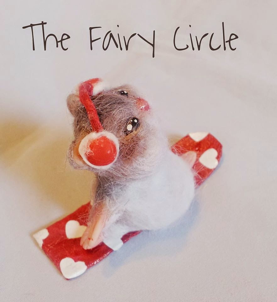 ooak hamster criceto mouse mice topo polimery clay miniature animal cute