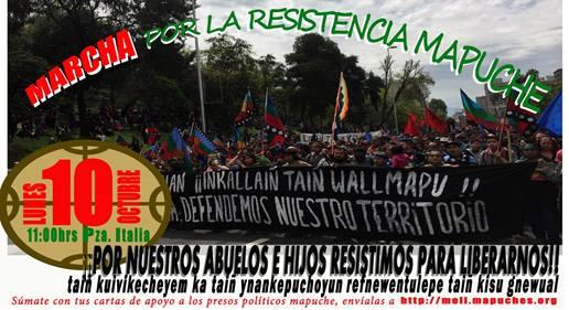 SANTIAGO: MARCHA POR LA RESISTENCIA MAPUCHE