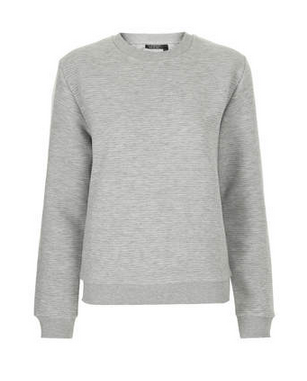 Ribbed Sweatshirt Grey