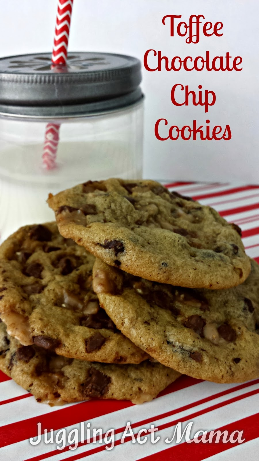 Toffee Chocolate Chip Cookies With Cookie Party Link Up And 50 Via I
