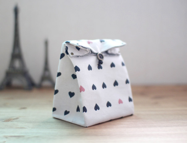 fabric foldover gift bag