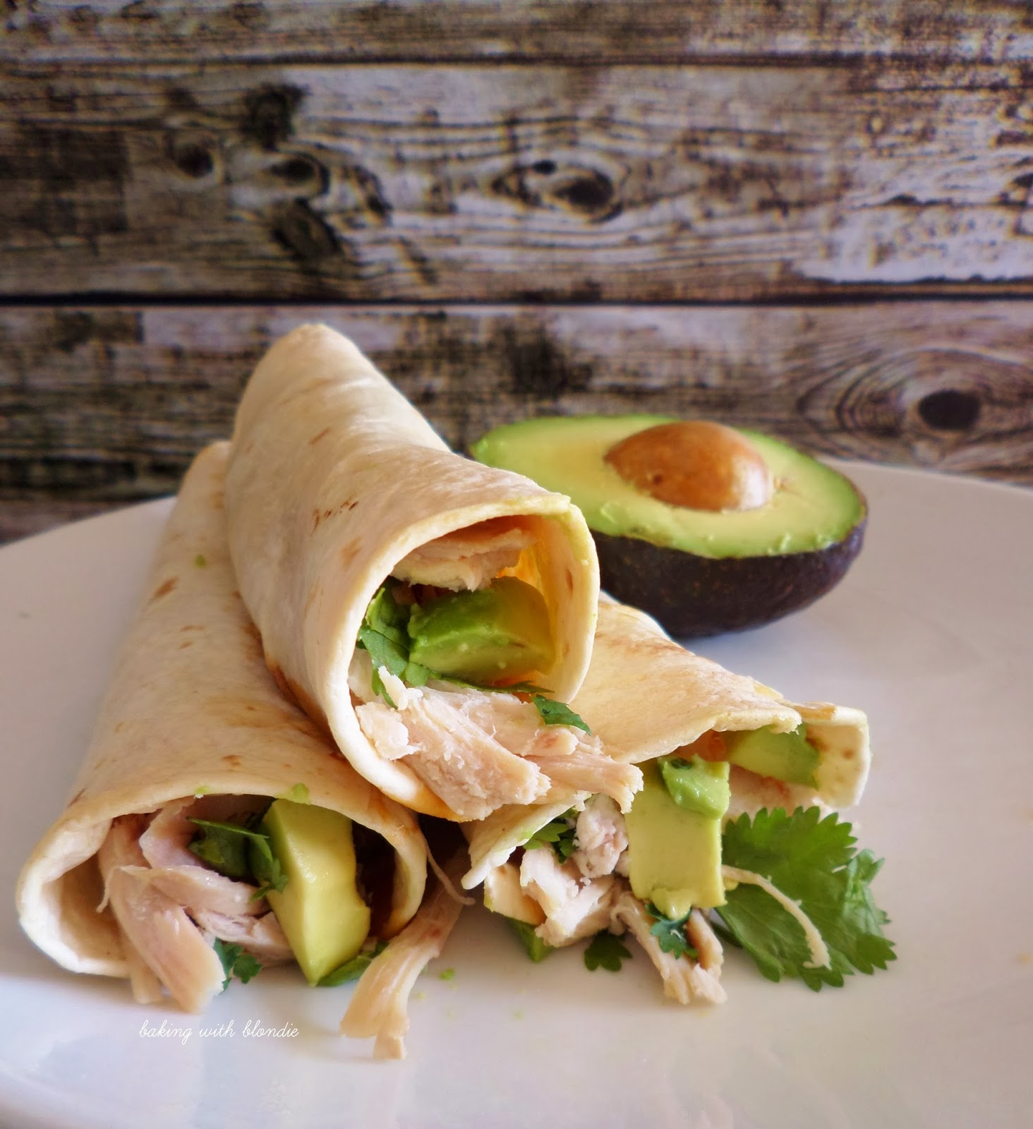 Baked Chicken And Avocado Taquitos