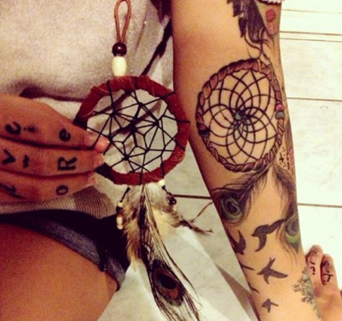 Dreamcatcher Hand Tattoos