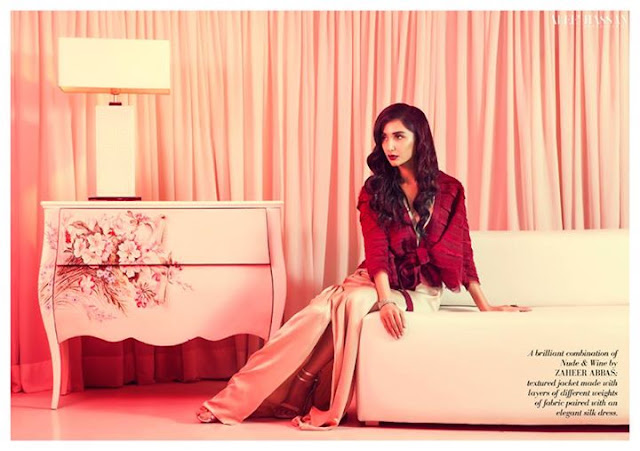 Colour Me Red Hira Tareen Photoshoot for Hello Pakistan