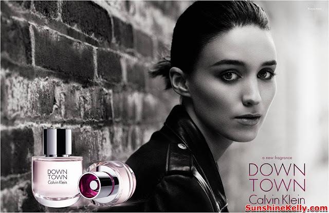 DOWNTOWN Calvin Klein, Calvin Klein, fragrance, eau de parfum, floral woody, actress Rooney Mara, director David Finche