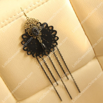 http://www.lolitadressesonline.com/black-vintage-lace-and-pearls-lolita-earring-p-696.html