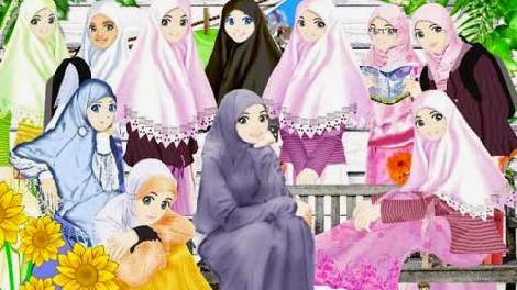 Kumpulan Gambar Kartun Cantik Islami