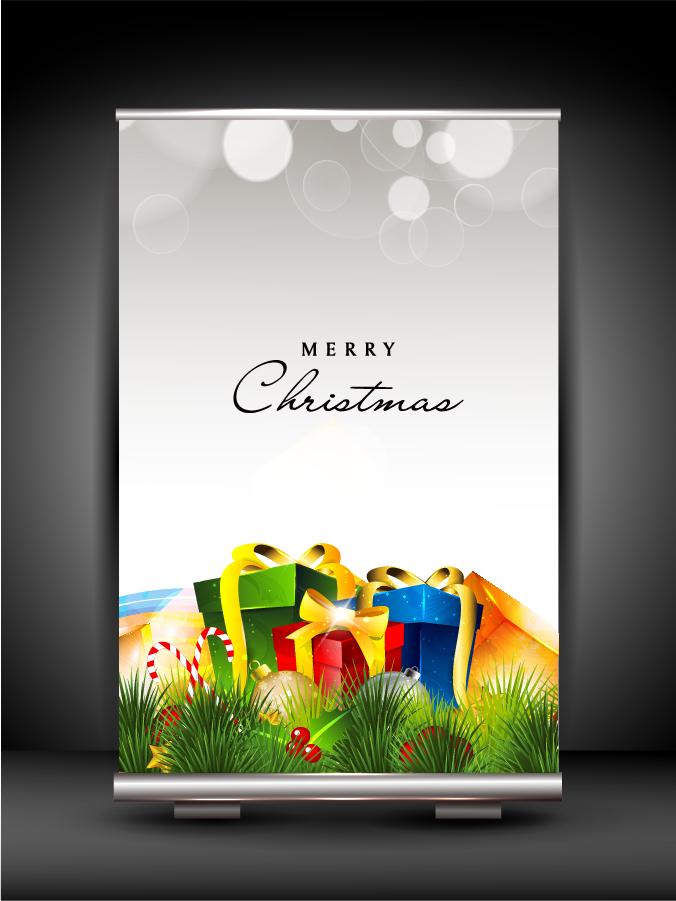 新年・クリスマスのバナーと背景 2013 New Year and Christmas backgrounds. イラスト素材4