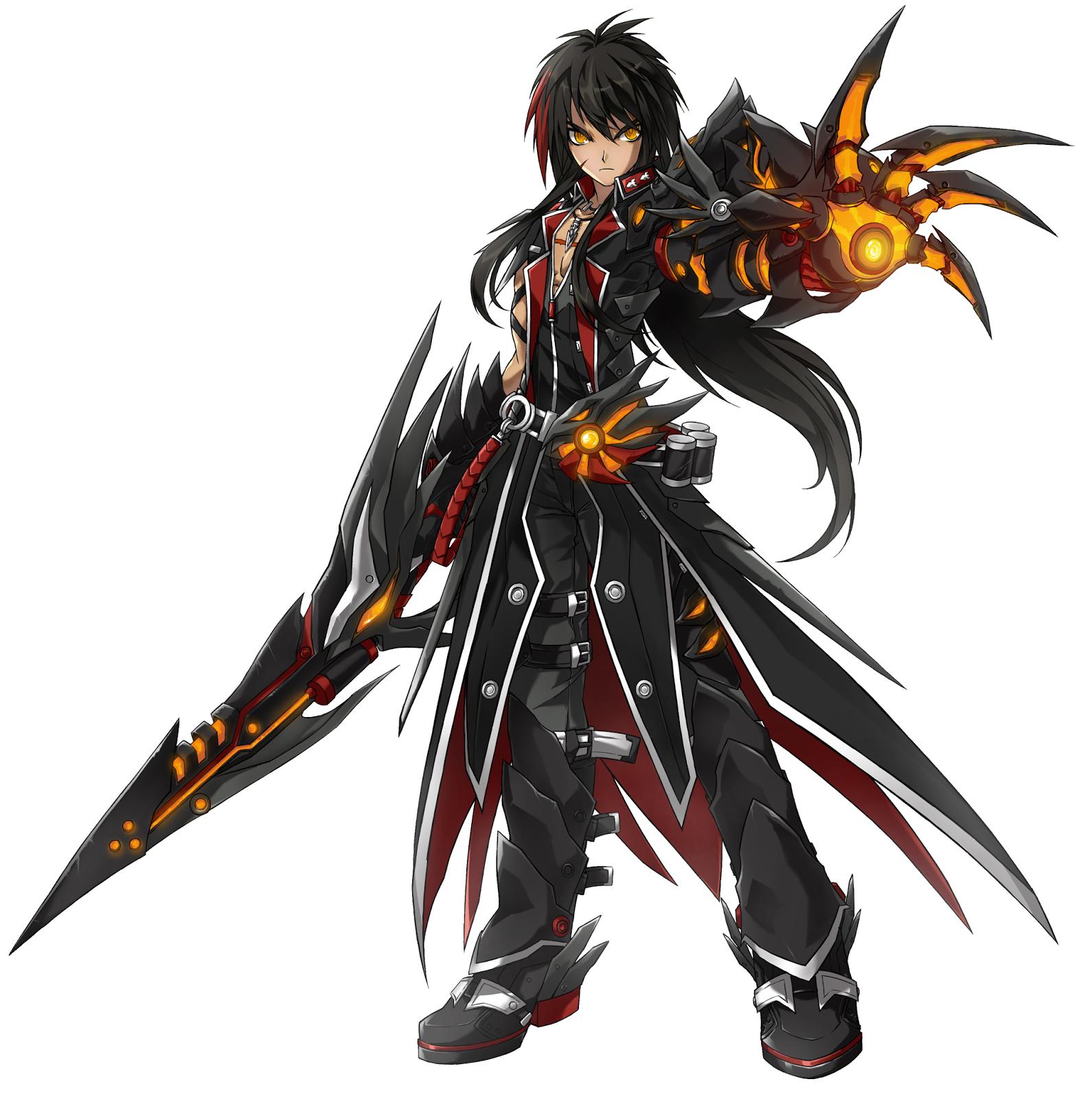 kaminobenimizu online games elsword raven veteran commander