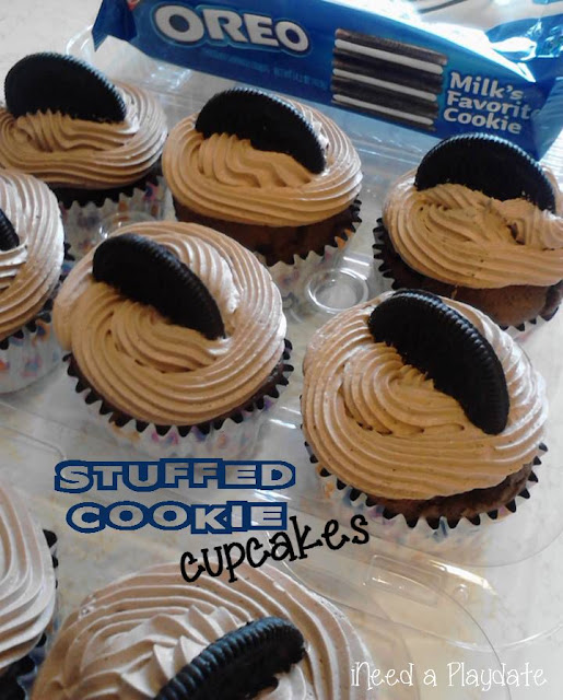 How to make Stuffed Cookie Cupcakes | @mryjhnsn