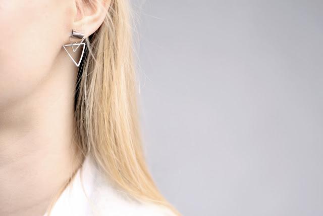 triangle ear studs