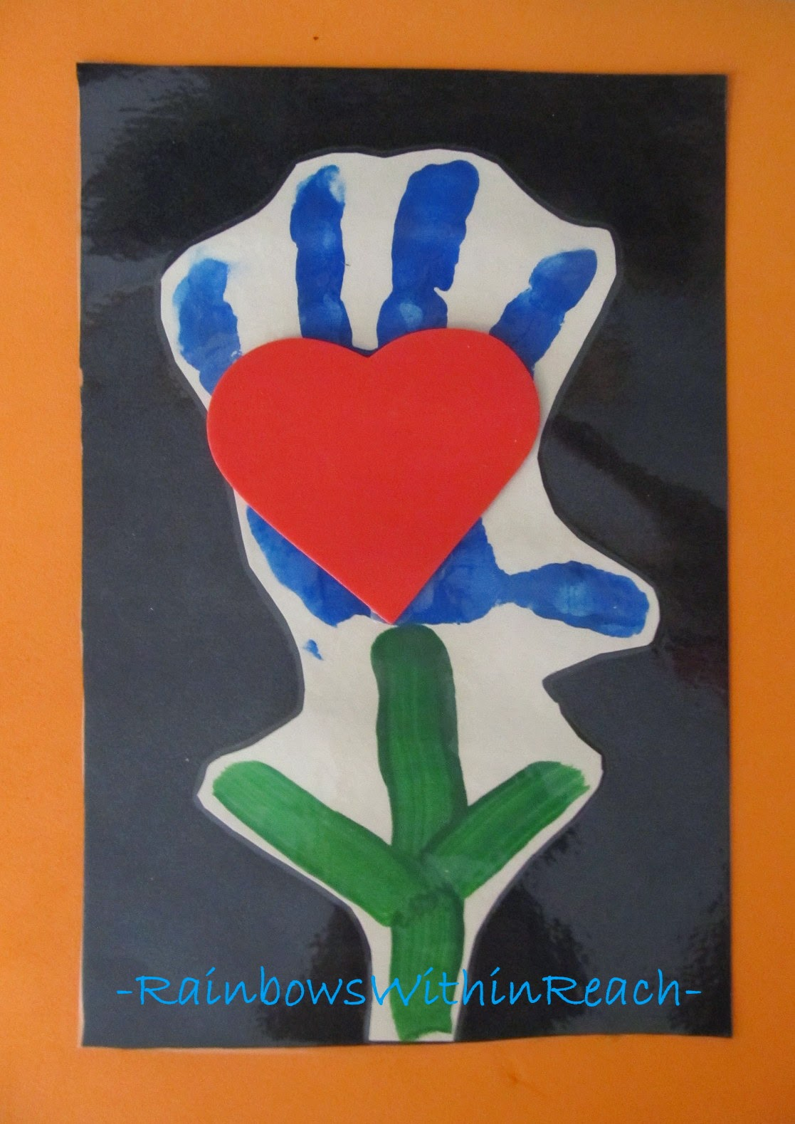 Mother's Day Painted Hand Keepsake at RainbowsWithinReach