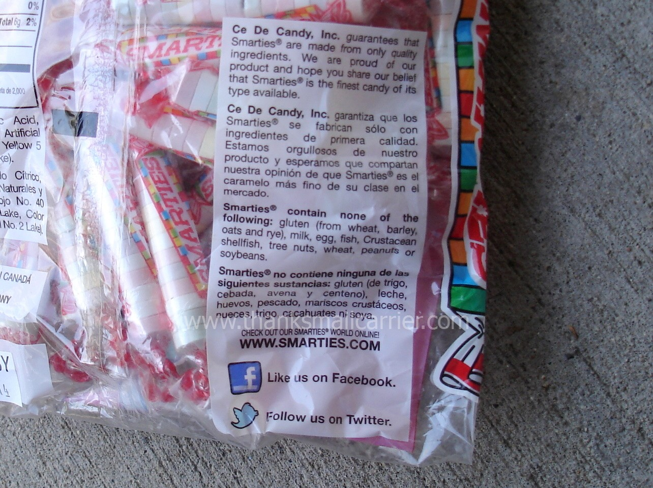 Thanks, Mail Carrier | My Perfect Candy: Smarties for ... Smarties Ingredients