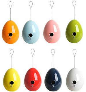 Egg bird feeders