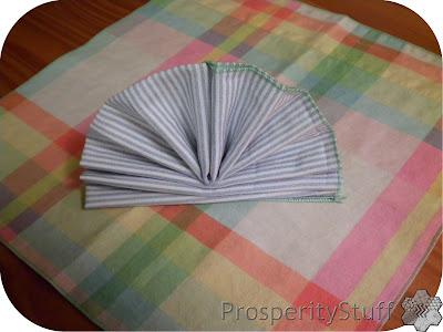 ProsperityStuff Homemade Napkin - fan fold